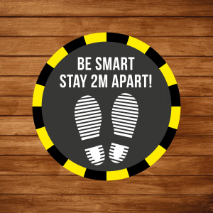 Be_smart_floor_graphic